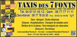 Taxis des 7 Fonts